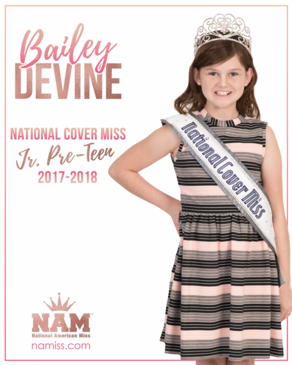 Bailey Devine National Cover Miss Jr. Pre-Teen