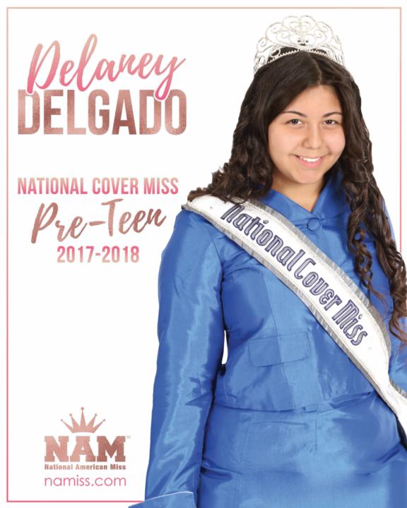 Delarey Delgado National Cover Miss Pre-Teen